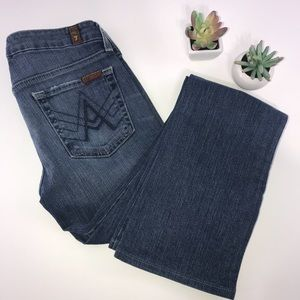 4309 7FAM A Pocket Medium Wash Boot Cut Jeans 24